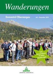 Wanderprogramm 2. Halbjahr 2013 - Pro Senectute Emmental ...
