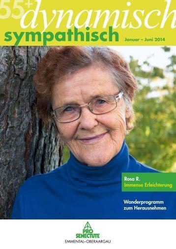 55+dynamisch sympathisch 1. Halbjahr 2014 - Pro Senectute ...