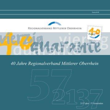 Festschrift 40 Jahre Regionalverband Mittlerer Oberrhein