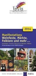 Manifestations Weinfeste, Märkte, Folklore und mehr …