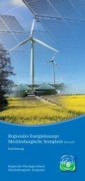 Regionales Energiekonzept Mecklenburgische Seenplatte (Entwurf)