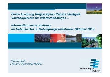 Fortschreibung Regionalplan Region Stuttgart Vorranggebiete für ...