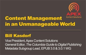 Content Management in an Unmanageable World - International ...