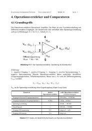 4. Operationsverstärker und Comparatoren