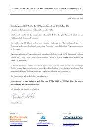 Einladungsschreiben und Programm - Fachhochschule Dortmund