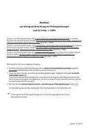 Merkblatt zum Antrag auf Anrechnung von Prüfungsleistungen nach ...