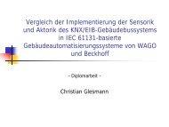 Vergleich der Implementierung der Sensorik und Aktorik des KNX ...
