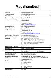 Modulhandbuch Master IET - Fachhochschule Dortmund