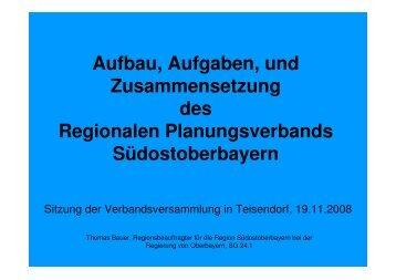 Aufbau, Aufgaben, und Zusammensetzung des Regionalen ...