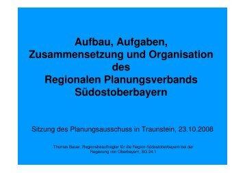 Aufbau, Aufgaben, Zusammensetzung, Organisation - Regionaler ...