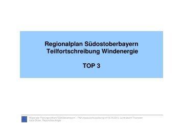 Windkraft - Regionaler Planungsverband Südostoberbayern