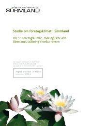 Här kan du läsa rapporten Sörmlands företagslimat.