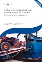 Så påverkades Sörmlands näringsliv av finanskrisen under 2008-2010