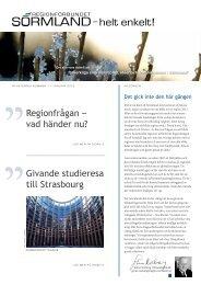 Läs nyhetsbrev nr 1 här - Regionförbundet Sörmland