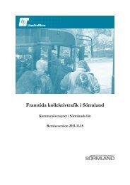 Framtida kollektivtrafik i Sörmland - Regionförbundet Sörmland