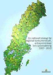 En nationell strategi för regional konkurrenskraft, entreprenörskap ...