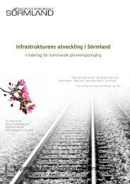 Här kan du läsa rapporten Infrastrukturens utveckling i Sörmland.