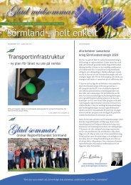 Läs Nyhetsbrev nr 6 2013 här - Regionförbundet Sörmland