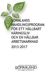 sörmlands handlingsprogram för ett hållbart näringsliv och en ...
