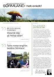 Läs nyhetsbrev nr 5 här - Regionförbundet Sörmland