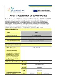 Annex 4: DESCRIPTION OF GOOD PRACTICE