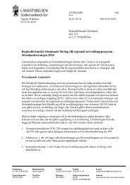Remissvar från Länsstyrelsen i Södermanlands län