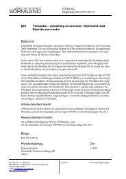 §35 Förstudie – utveckling av turismen i Sörmland med Skavsta som ...