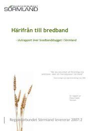 Härifrån till bredband - Regionförbundet Sörmland