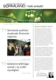Läs nyhetsbrev nr 5 2011 här - Regionförbundet Sörmland