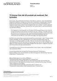 Hämta pressmeddelande i pdf-format - Regionförbundet Sörmland