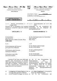 Circolare n. 11 Istruzioni per la liquidazione dei compensi spettanti ...