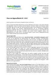 Neues vom Regionalbündnis Nr. 3-2012