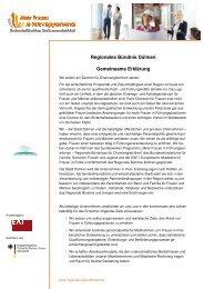 Gemeinsame Erklärung - Regionale Bündnisse