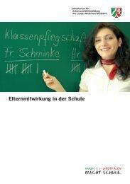 Elternmitwirkung in der Schule - Regionale Bildungsnetzwerke