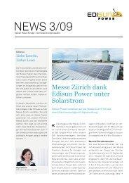 NEWS 3/09 - Edisun Power Europe AG