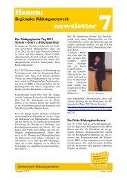 Hamm: newsletter 7 - Regionale Bildungsnetzwerke