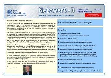 Newsletter März 2011 - Regionale Bildungsnetzwerke