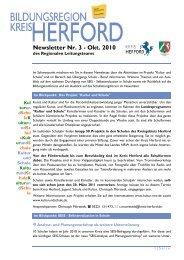 Newsletter Nr. 3 - Okt. 2010 - Regionale Bildungsnetzwerke