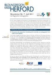 Newsletter Nr. 7 - Juli 2011 - Regionale Bildungsnetzwerke