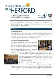 KREIS BILDUNGSREGION - Regionale Bildungsnetzwerke
