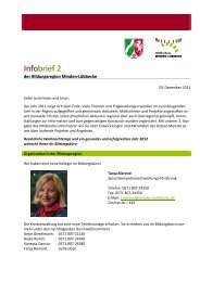 Infobrief Nr 2 - Regionale Bildungsnetzwerke