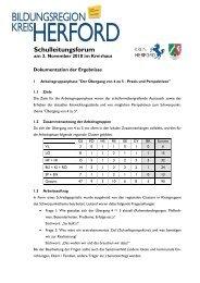 Transkription der Ergebnisse des SL-Forums - Regionale ...