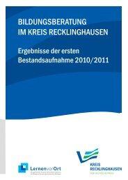 BILDUNGSBERATUNG IM KREIS RECKLINGHAUSEN - Regionale ...