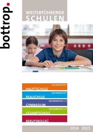 Weiterführende Schulen in Bottrop im Schuljahr 2014/2015