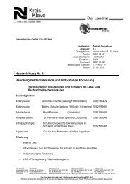Handreichung Nr. 1 - Förderung von SuS mit Lese - Regionale ...