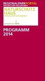 PROGRAMM 2014 - Regionalpark RheinMain
