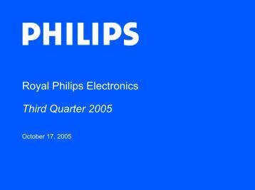 Royal Philips Electronics Third Quarter 2005