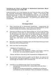 Verordnung zum Schutz von Bäumen im Stadtverband Saarbrücken ...