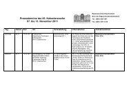 Pressetermine - Regionalverband Saarbrücken