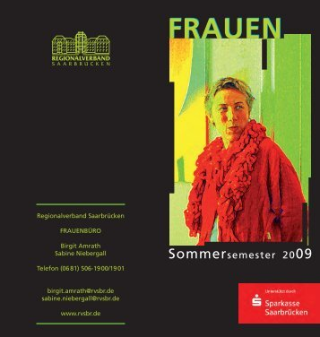 Frauenbildungsprogramm 2009 - Regionalverband Saarbrücken